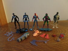 "Lot of 5 2009-2012 Spider-Man 4"" Figures - Lizard, Green Goblin, Symbiote w/Acc"