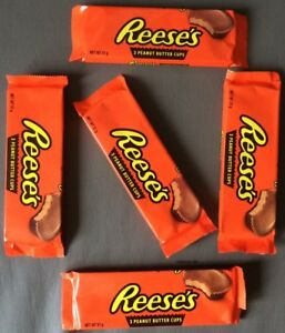 5x Hershey's Reeses 3 Peanut Butter Cups With A' 51g (35,10 €/ KG)