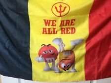 Diable rouge drapeau ( Belgique ) M&M'S collector we are all red