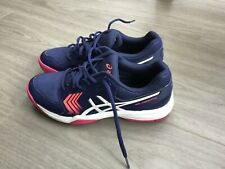 New listing Ladies Asics Tennis Shoes in blue with white detailing