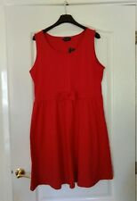 Dorothy Perkins dark rose stretch cotton dress size 16 new with tag