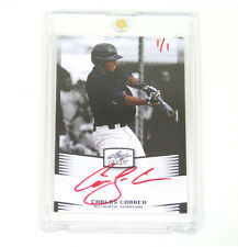 Carlos Correa 2011 Leaf Draft ROOKIE Red Ink ON CARD Auto #1/1 Astros FREE SHIP