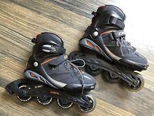 Dbx Roller Blades Mens sz 8 Inline Skates, Black/Orange Abec 7 Bearings