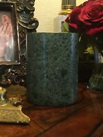 Antique Spinach Green Jade Cylinder Decor/Brush Pot/Cooking Utensil Pot/Planter