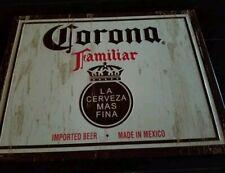 Corona familiar Beer Tin Tacker Sign Bottle Can Lime Man Cave Bar Decor Shop