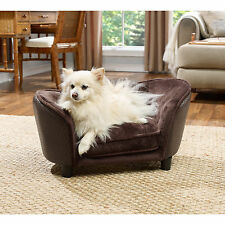 New listing Dog Bed Sofa Couch Sturdy Pet Furniture Brown Raised Sleeper Small Dogs Cats