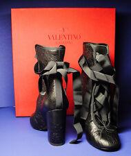 VALENTINO Made in Italy Sz 35 GARAVANI BLACK BALLET BOOTIE SHOES PRISTINE COND.