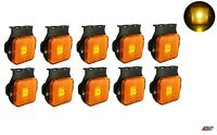 "10x Led Recovery Lights Side Marker Orange Amber Trailer Truck Lorry 24v 2.55"""