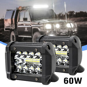 UK 60W LED Work Light Bar Flood Spot Lights Driving Lamp Offroad Car Truck SUV