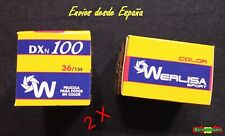 2 X carretes 36 fotos Dxn 100 Werlisa Sport color