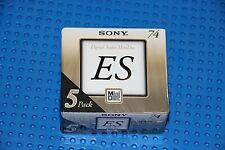 New listing Md Sony Es 74 Blank Mini Disc 5 Pack (5) (Sealed)
