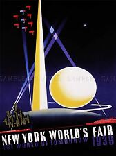 EXHIBITION CULTURAL WORLD'S FAIR NEW YORK USA 1939 OLD ADVERT POSTER 1723PYLV