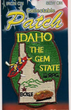 State of Idaho Souvenir Patch  The Gem State Boise