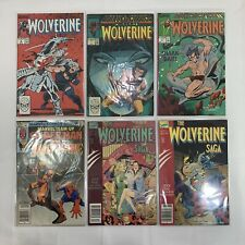 Lot of 6 Wolverine Comic Books - Marvel Comics - #2, #3, #41, #117 w/ Spider-Man