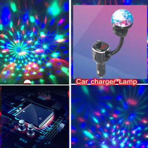 USB Port Phone Player Transmitter Charger Lamp W/Roof Light