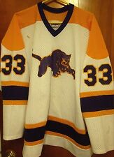 MAUMEE High School hockey jersey Panthers game-worn Ohio #33 beat-up XL