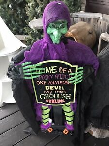 Wicked Wanda New Standing Sign Witch Lights Up