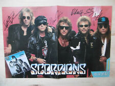 Scorpions signed Poster folded autographs