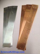 Copper Electrodes & Zinc Electrodes (3 of each - 6 total Electrodes as shown)