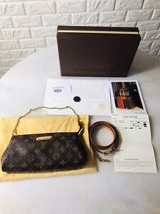 AUTHENTIC Louis Vuitton Eva Clutch with original receipt, dust bag and box