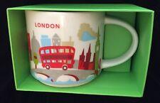 Starbucks London Mug YAH Bus Big Ben Tower Bridge Cup You Are Here England UK