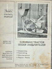 597.261620- Sears Suburban Tractor - Seeder/ Fertilizer Manual on CD