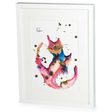 Happy Cats White Frame A3 Japanese Print