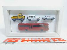 CA141-0,5# Wiking 1:87/H0 Set Mercedes: Bus + Unimog + 190 E + G-Klasse, s.g+OVP