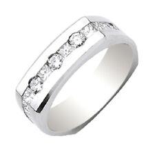 Round & Princess Cut Shape Diamond Men's Ring 1.04 Carat 14k Gold
