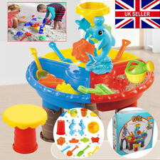 23X Sand and Water Table Sandpit Indoor Outdoor Beach Kids Children Play Toy Set