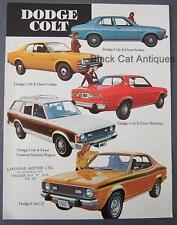 Original Chrysler Dodge Colt GT, 2/4 Door, Wagon Car Dealer Brochure From Canada