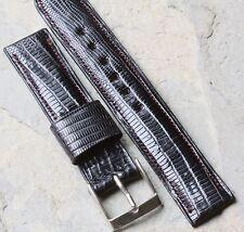 Short length Real Alligator Lizard 16mm padded vintage watch strap 1950s/60s NOS