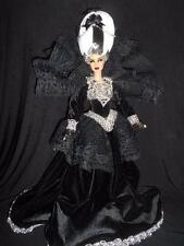 Gothic Marie Antoinette ~ barbie doll ooak custom repaint regal dark DS