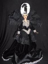 Gothic Marie Antoinette ~ barbie doll ooak custom repaint regal dark DS