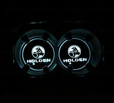 2PCS Fit For Holden Colorful LED Car Cup Holder Pad Mat Auto Atmosphere Lights