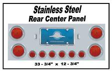 Rear Center Panel Stainless Steel with Red LED Lights (Red Lens) Semi Trucks