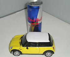 125-002 Cararama 1:24 GIALLO MINI COOPER metallo pressofusione Modello Auto Nuovo & BOXED