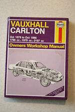 V.CHEAP - 480. HAYNES, VAUXHALL CARLTON, 1978 to 1986 OWNERS WORKSHOP MANUAL