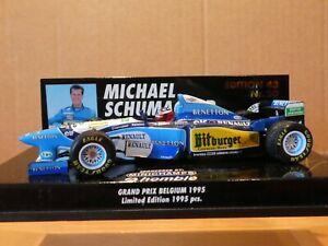 Minichamps 1:43 Michael Schumacher Benetton B195 Belgium GP 1995 No 20 Homble