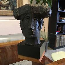 Sunol Alvar 1975 Spaniard Spanish Matador Bronze Sculpture Statue Bust