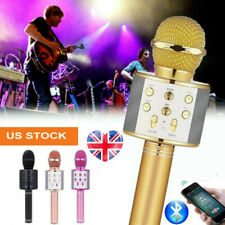 Wireless Bluetooth USB Charging Karaoke Microphone Speaker Handheld KTV Play Mic