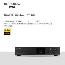 SMSL A8 125W*2 ICEpower Big-power Digital Amplifier XMOS DSD512 PCM768KHZ DAC