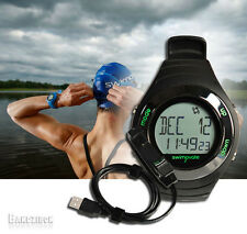 Swimovate PoolMate Live Swimming Lap Counting Counter Watch Pool Lenght + Cable