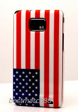 FOR SAMSUNG GALAXY S2 i9100 and i777 US AMERICA AMERICAN US FLAG CASE COVER//