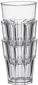 Outdoor Whiskybecher 0,2  glasklar GASTRO 24 x Glas  Jacky Becher Picknick BBQ