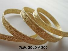 Full 20 Metre Roll Berisfords Sparkly Gold Lame Ribbon 7mm Wide. Sewing Crafts