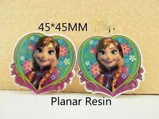 5 X 46MM Original Bosch Anna de Frozen Corazón Corte Láser Moños diademas de resina de reverso plano