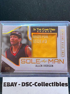 2020 Leaf In The Game Used Allen Iverson Sole Man Sneaker Materials Relic 1/1