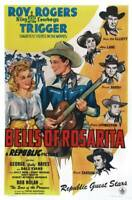 OLD LARGE ROY ROGERS COWBOY MOVIE POSTER, Bells Of Rosarita 1945