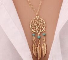 8 Dream Catcher Necklaces Lot Bulk Wholesale Party Favors New Gift Gold